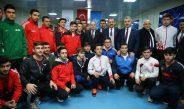 Gençlik ve Spor Bakanımız Sayın Akif Çağatay Kılıç ve Çevre ve Şehircilik Bakanımız Sayın Mehmet Özhaseki'den milli takımımıza ziyaret.