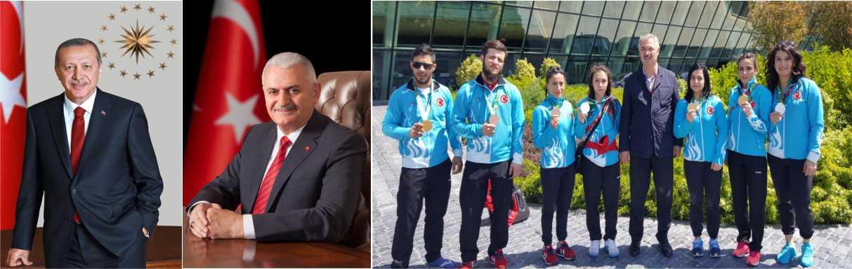 Cumhurbaşkanımız Recep Tayyip Erdoğan ve Başbakanımız Binali Yıldırım'dan tebrik telgrafı