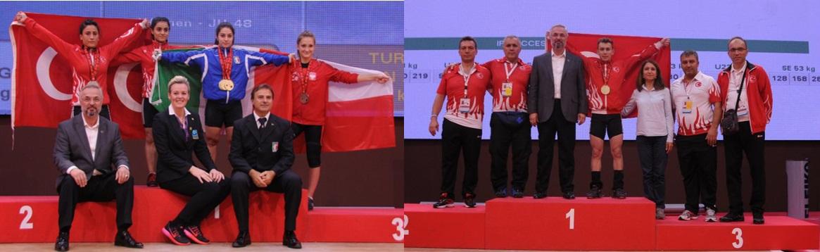Gençler ve 23 Yaş Altı Avrupa Halter Şampiyonası'nın ilk günü 7 madalya