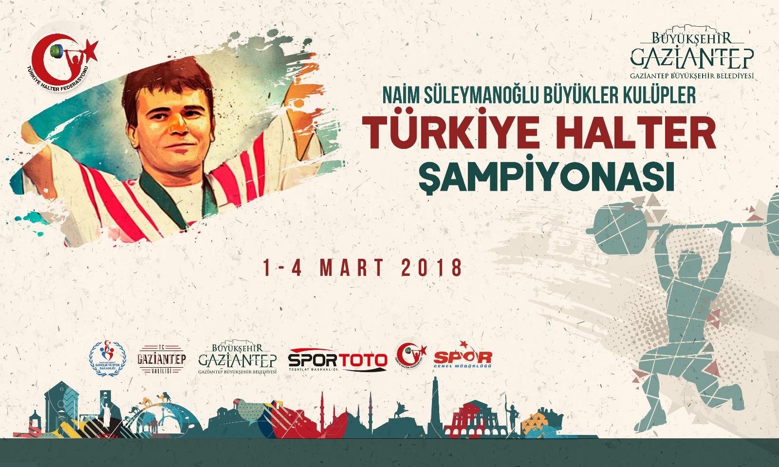 Naim Süleymanoğlu Büyükler Kulüpler Türkiye Halter Şampiyonası Gaziantep