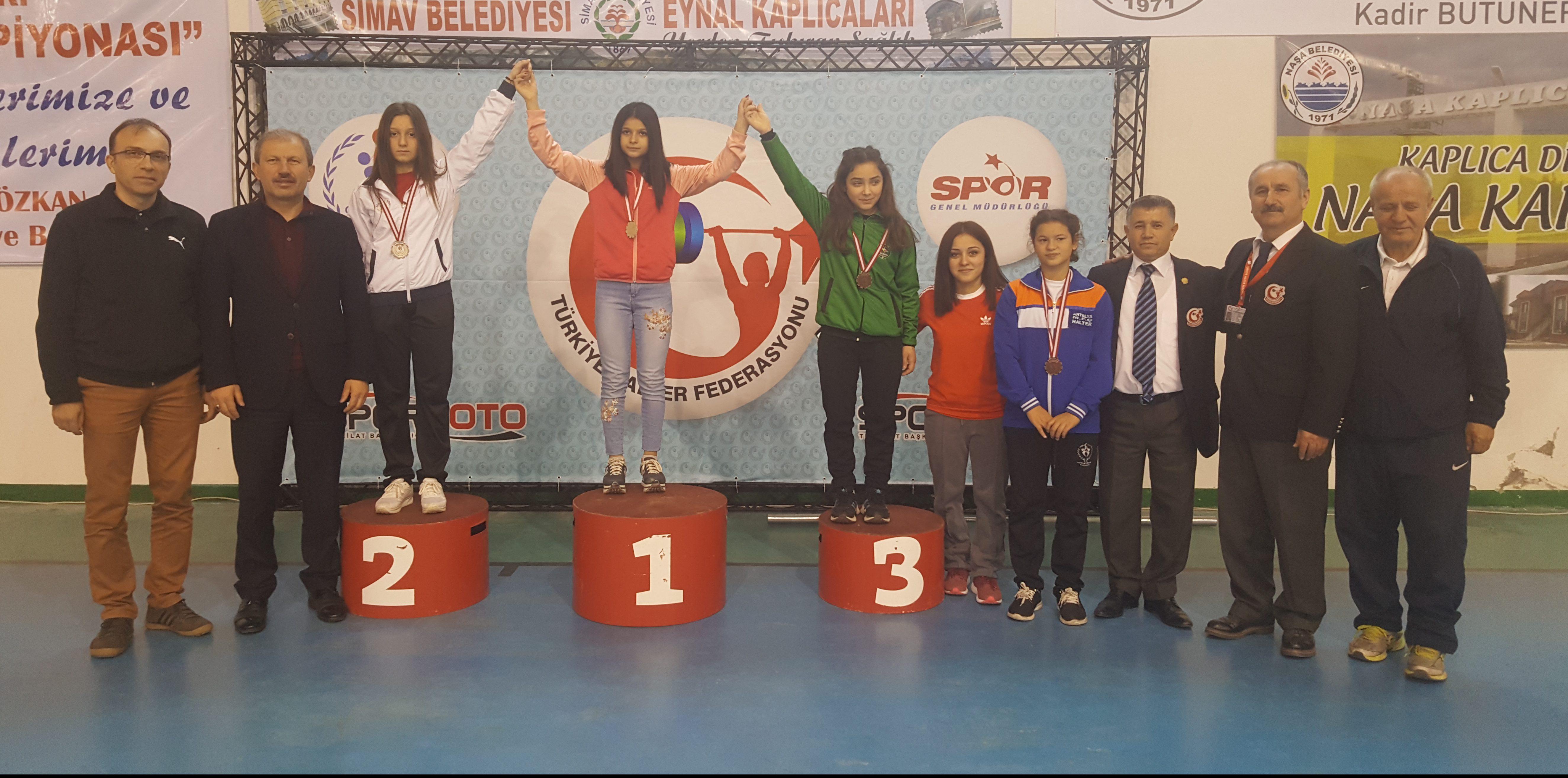 Okul Sporları Yıldızlar Türkiye Halter Şampiyonası sona erdi.