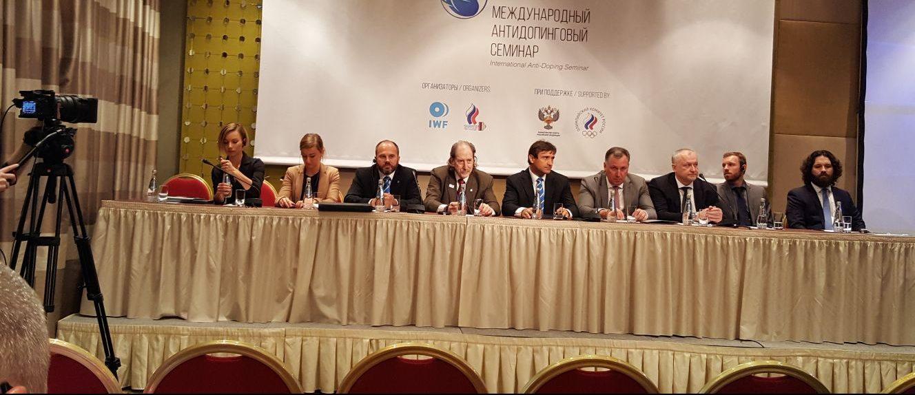 4-5 Mayıs 2018 tarihinde Moskova'da IWF ve Rusya Halter Federasyonu'nun birlikte düzenlediği Uluslarası Antidoping Semineri'ne Federasyon Başkanımız Tamer Taşpınar ile Uzm.Dr.Melda Pelin Yargıç birlikle katıldı.