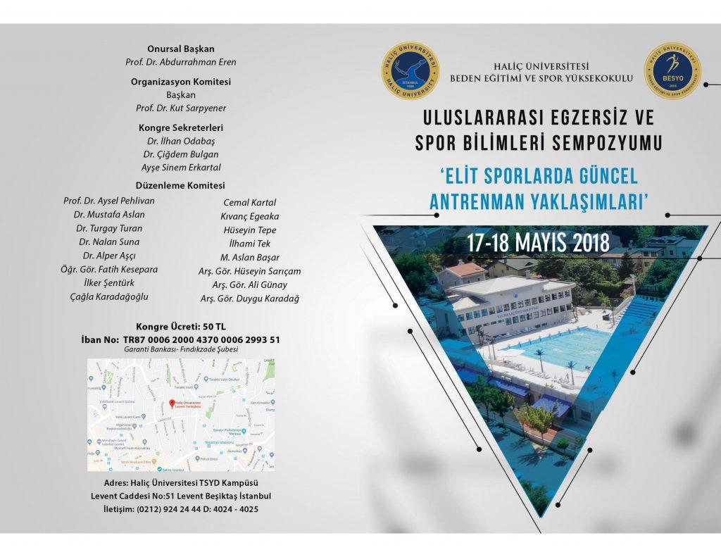 ULUSLARARASI EGZERSİZ VE SPOR BİLİMLERİ SEMPOZYUMU 17 – 18 MAYIS 2018