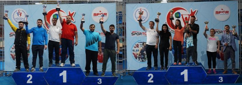 Erkekler Kategorisinde Ankara Aski Spor Kulübü , Bayanlar Kategorisi Şampiyonu Ankara Başkent Kartalları Spor Kulübü oldu.