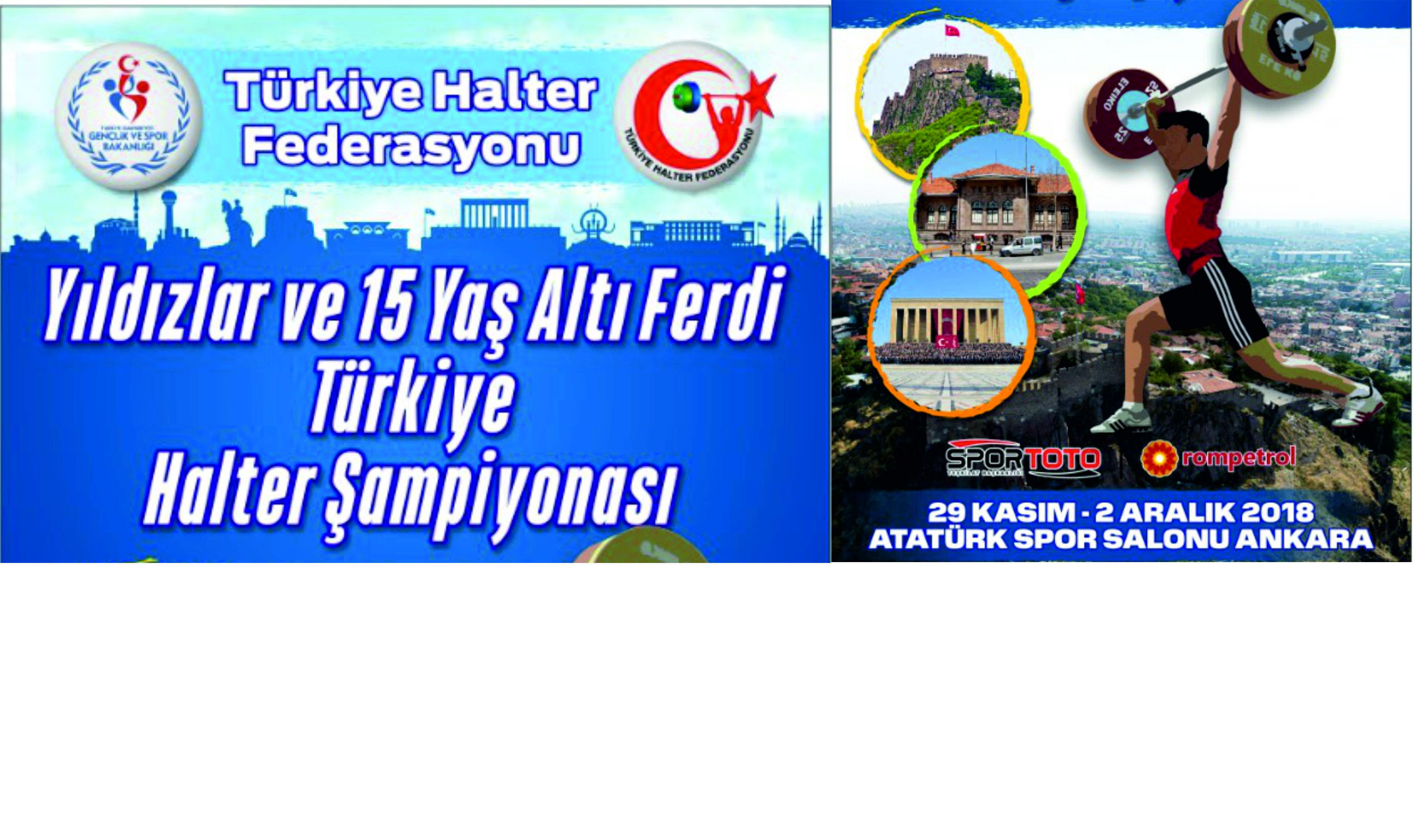 Yıldızlar ve 15 Yaş Altı Ferdi  Türkiye Halter Şampiyonası