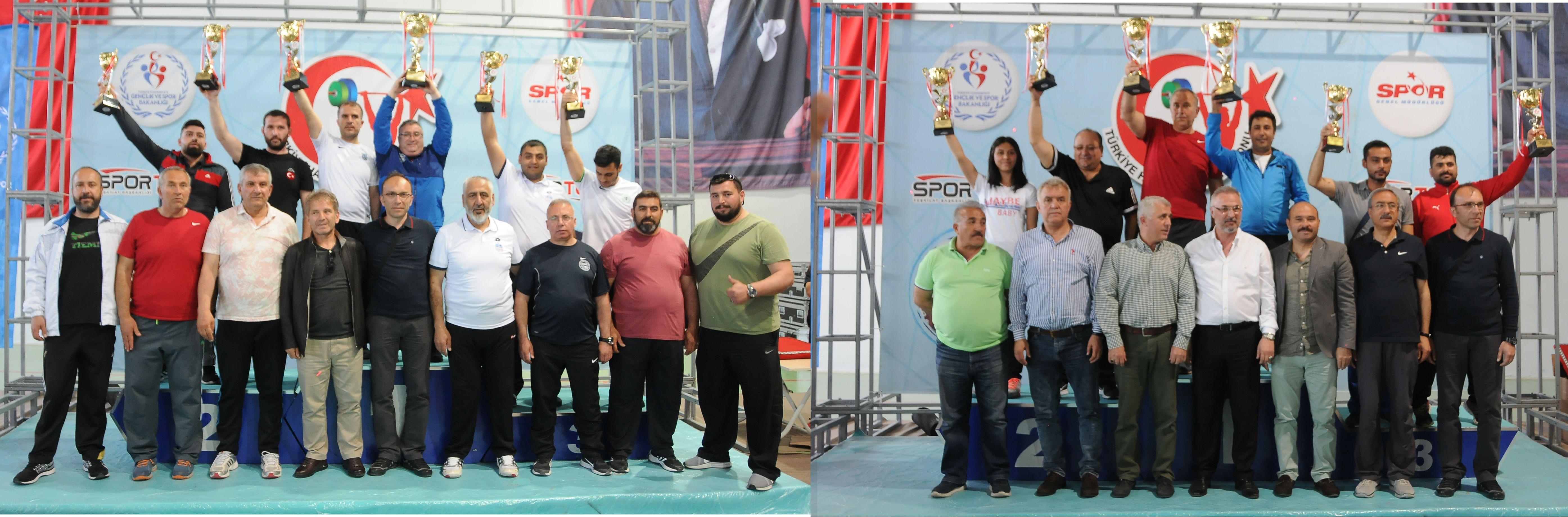 Erkekler Kategorisinde Ankara Aski Spor Kulubü , Bayanlar Kategorisi Şampiyonu Gaziantep Halter İhtisas Spor Kulübü Şampiyon oldu.