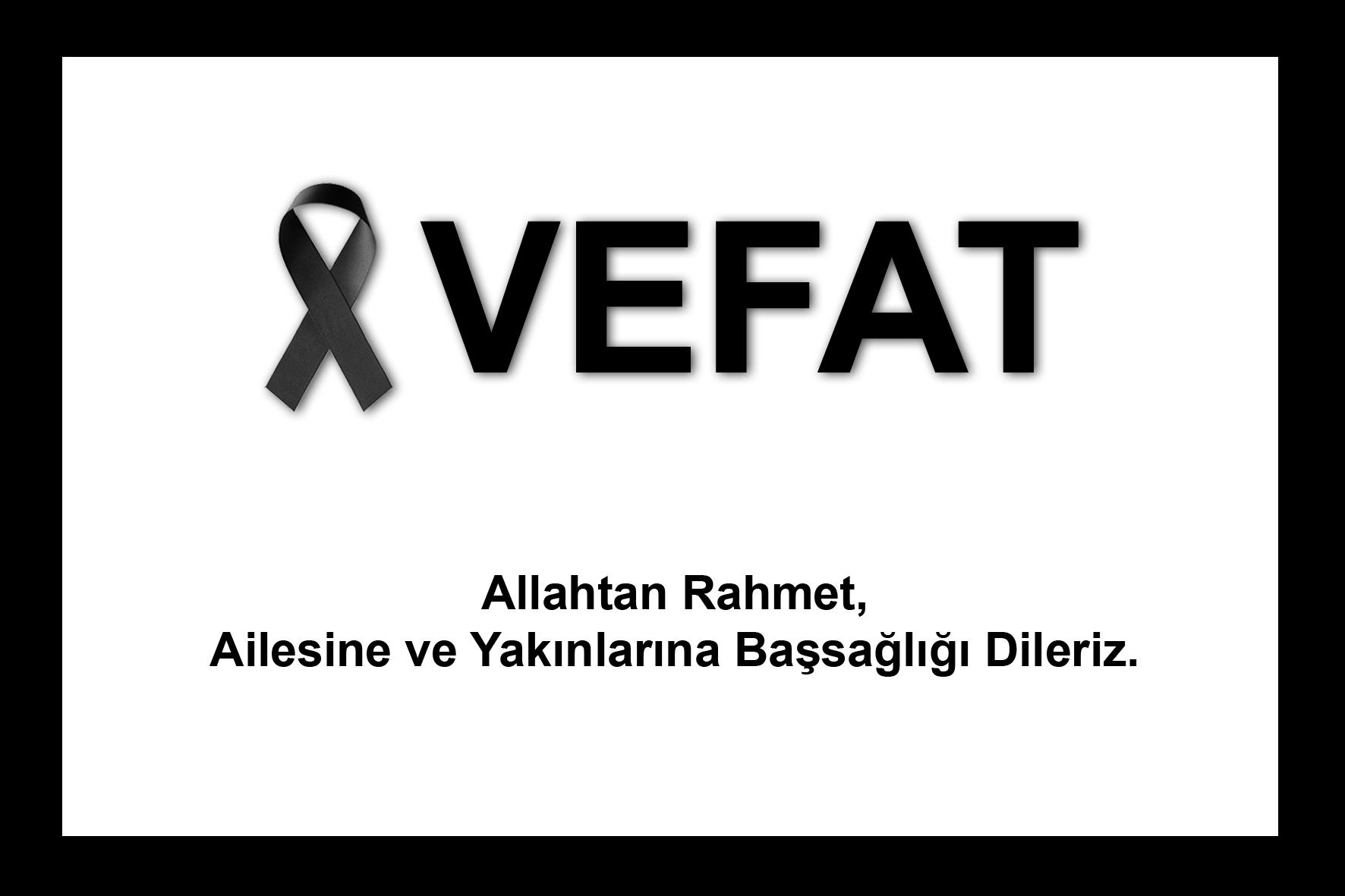 Antrenörümüz Serap Ünlü'nün Annesi   Mukadder Can vefat etmiştir.