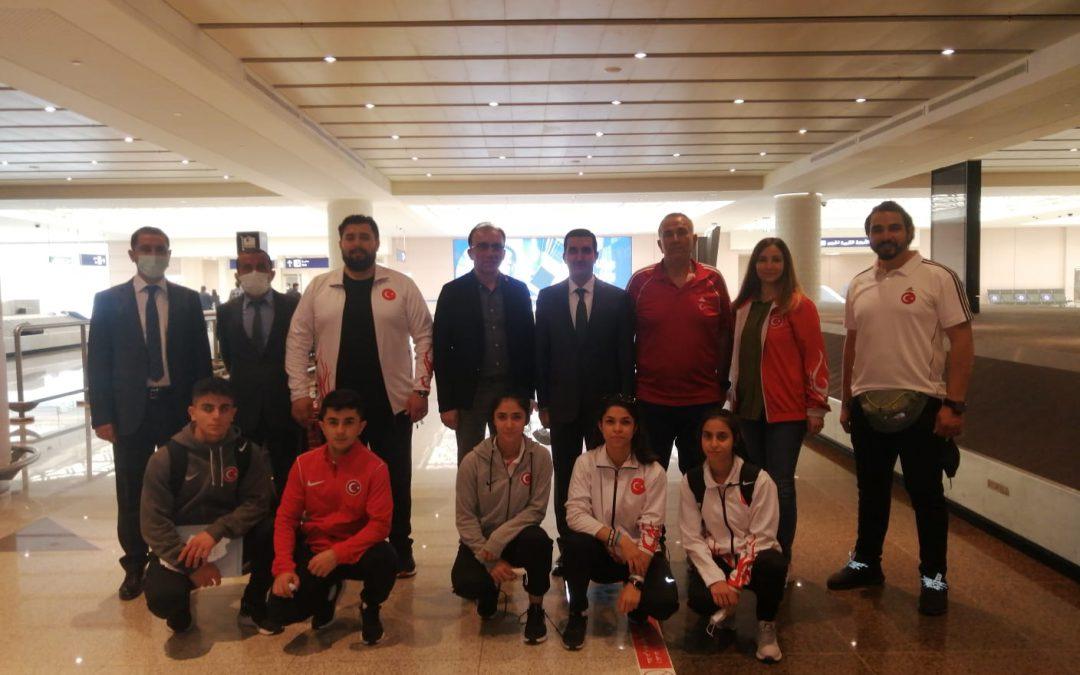 Dünya Yıldızlar Şampiyonasına Katılacak Milli Takımımız Suudi Arabistan'a Gitti